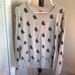 Primp waffle sailboat long sleeve shirt